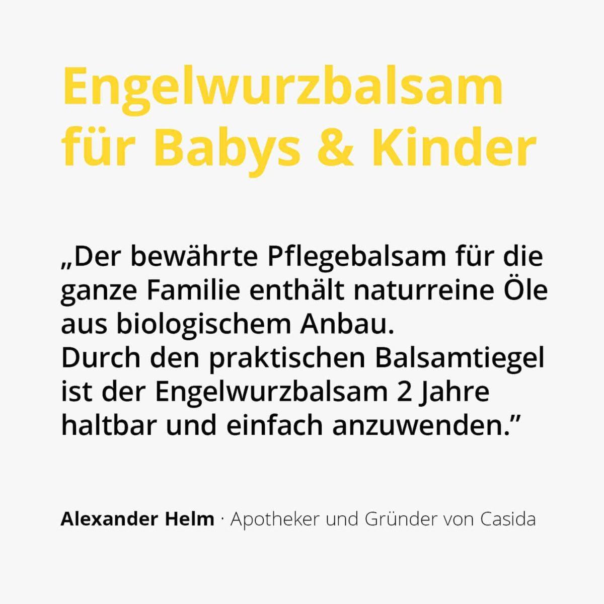 Casida Engelwurzbalsam für Kinder 15 g 10086729 PZN Apotheke Schnupfen Baby2