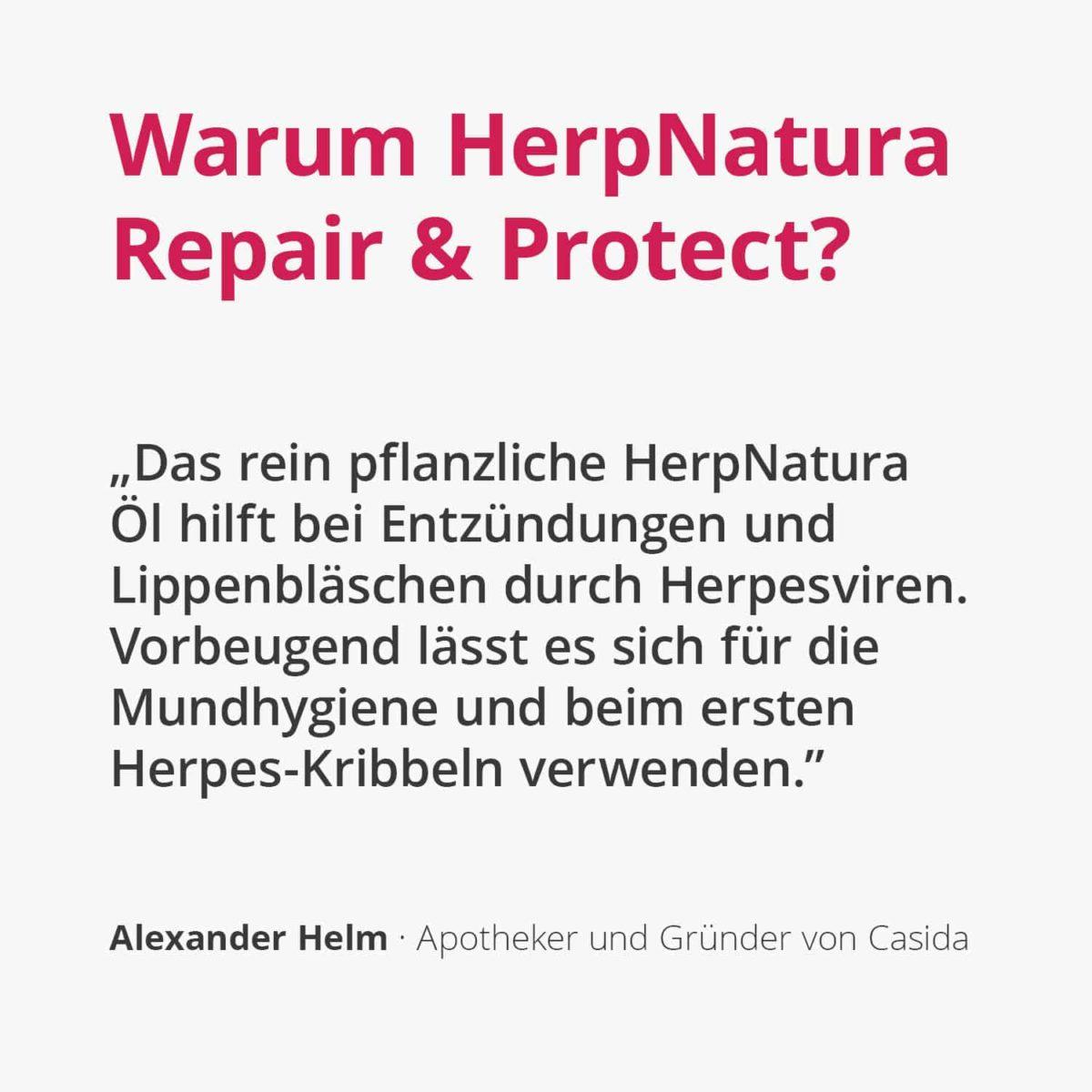 Casida HerpNatura Repair & Protect – 10 ml 10086698 PZN Apotheke Herpes Mundbläschen Lippenbläschen2