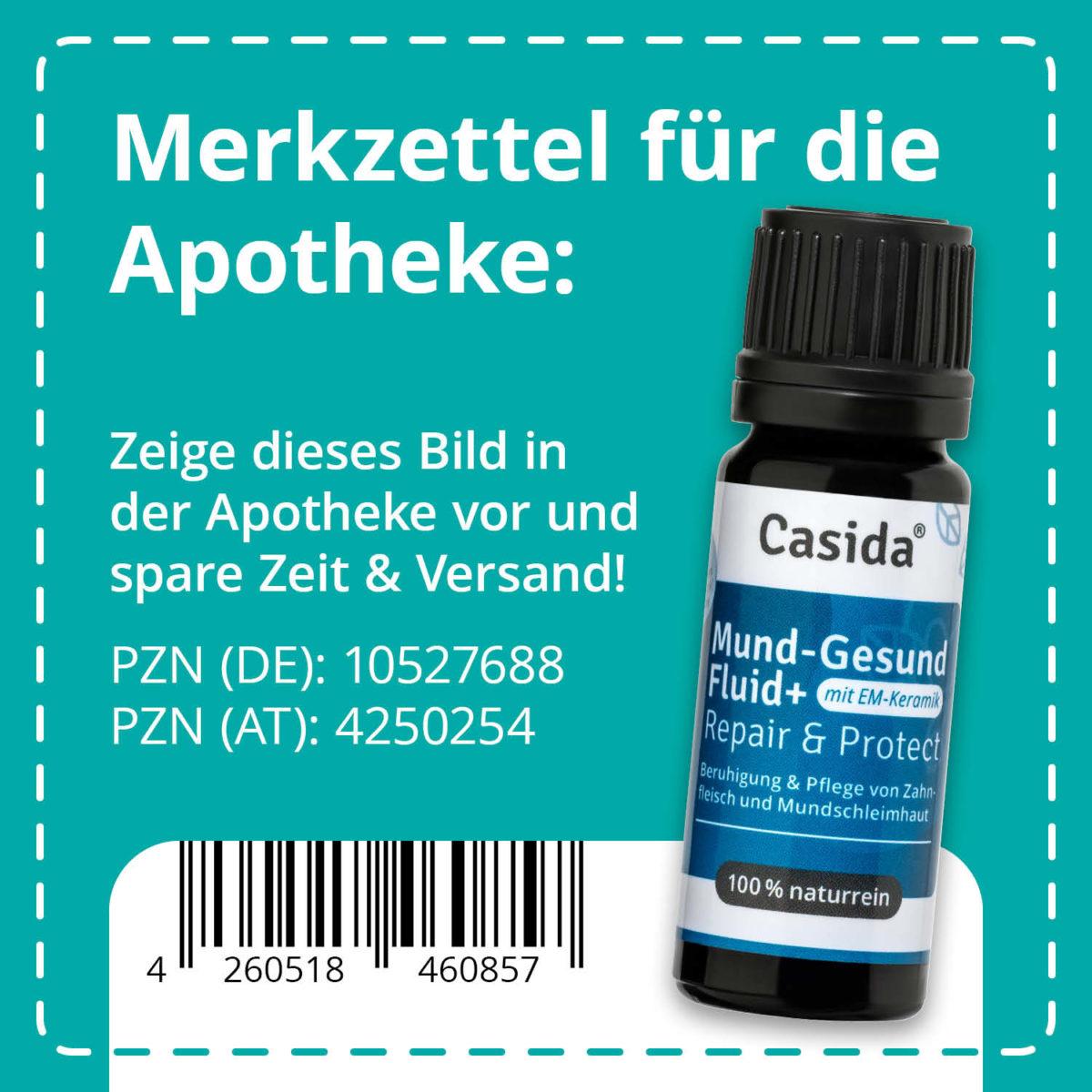 Casida Mund-Gesund Fluid+ mit EM-Keramik 10 ml 10527688 PZN Apotheke Zahnfleischbluten Aphten Schwangerschaft9