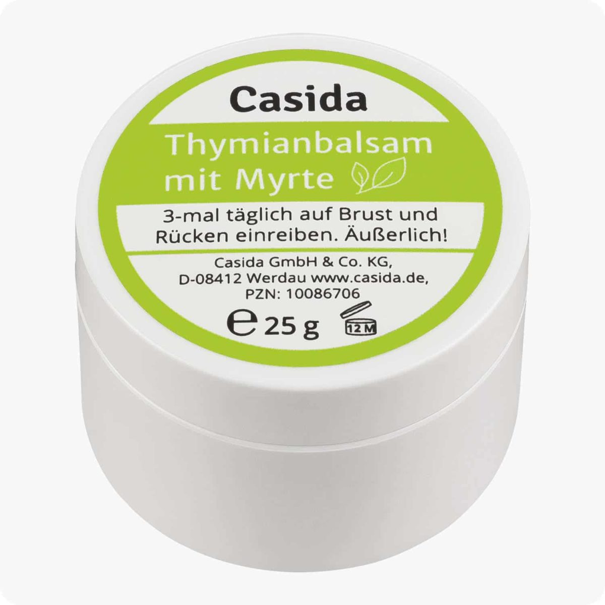 Casida Thyme Balm with Myrtle for Adults 25 g 10086706 PZN Apotheke Erkältungsbalsam husten