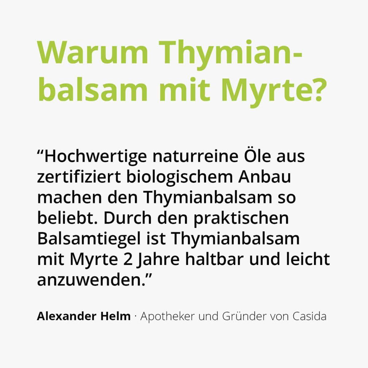 Casida Thyme Balm with Myrtle for Adults  25 g 10086706 PZN Apotheke Erkältungsbalsam husten2