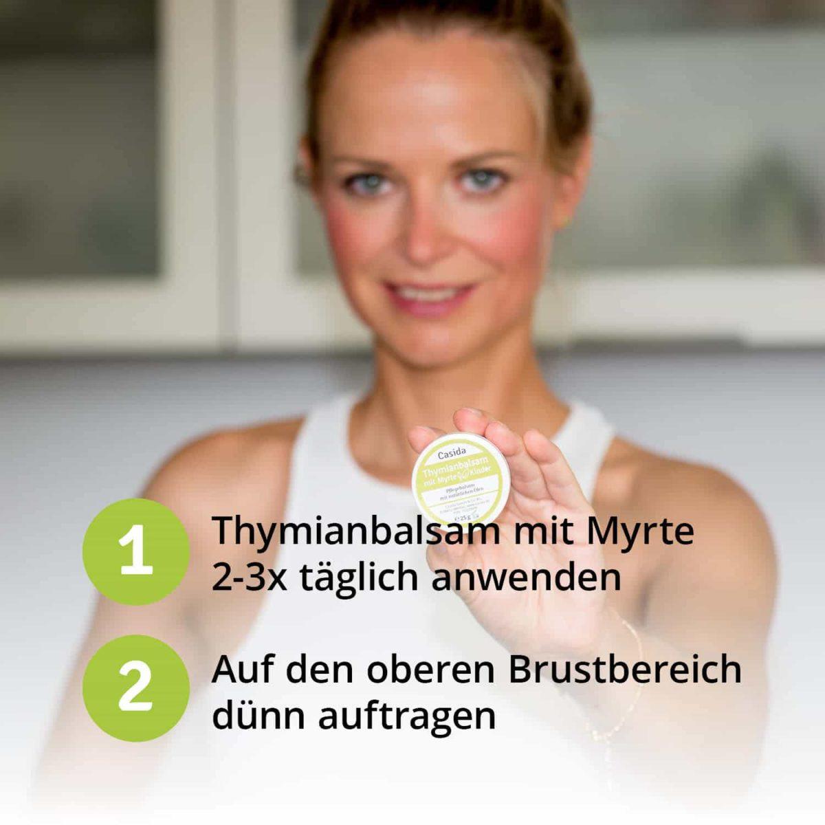 Casida Thyme Balm with Myrtle for Adults 25 g 10086706 PZN Apotheke Erkältungsbalsam husten6