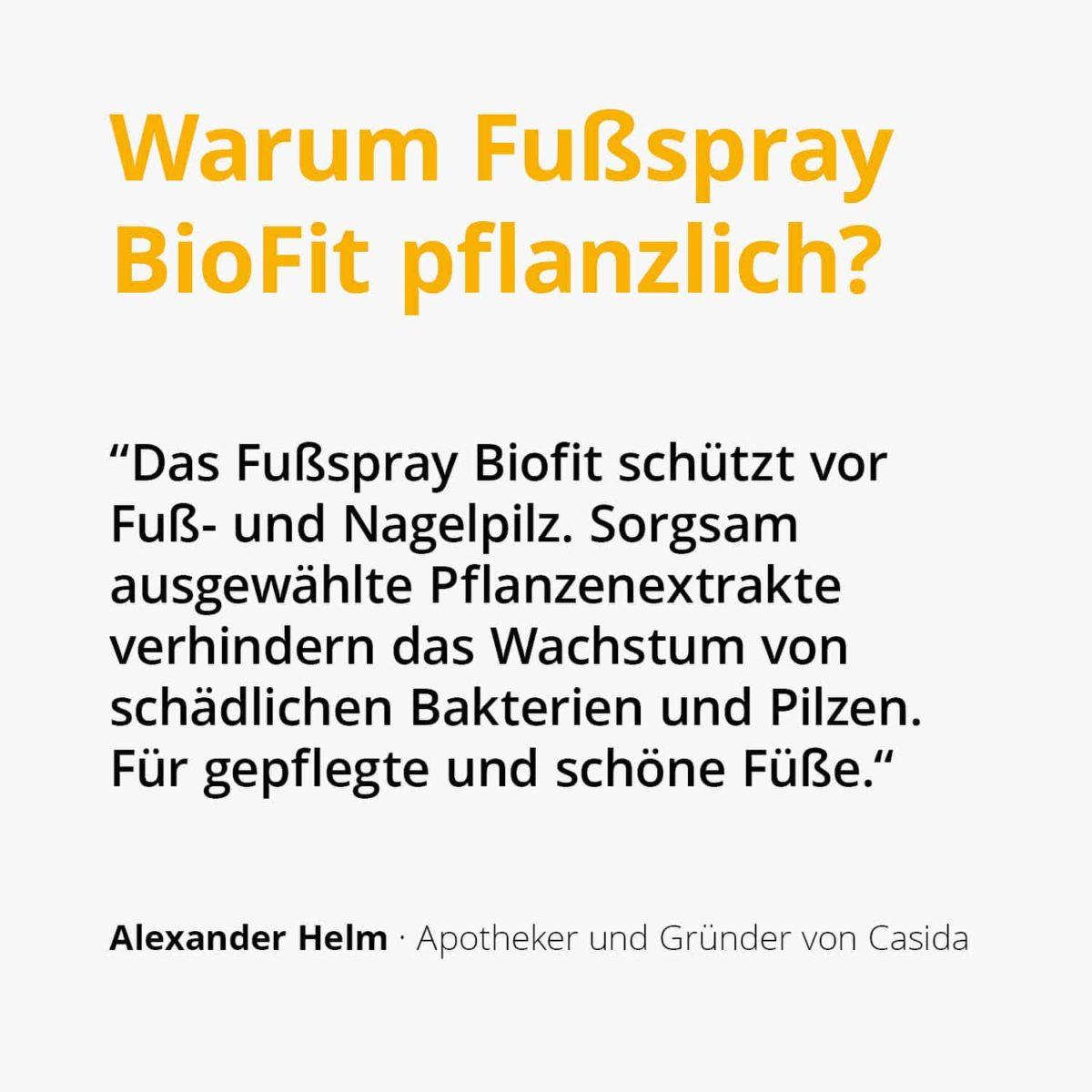 Casida Fußspray BioFit Pflanzlich 10751322 PZN Apotheke Nagelpilz Fußpilz2