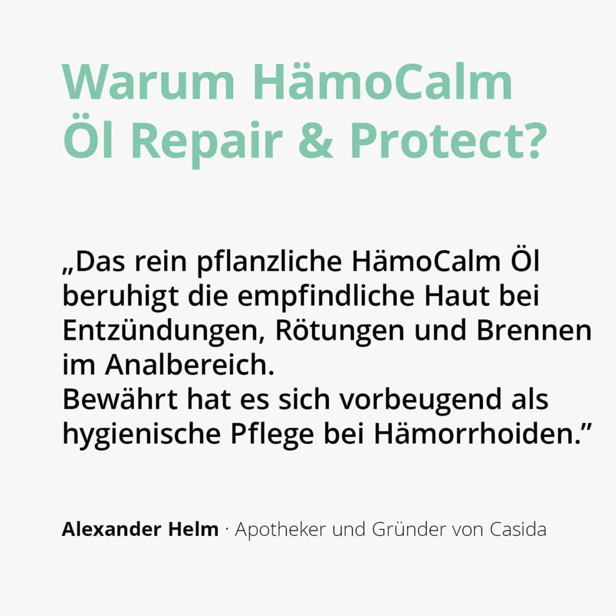 Casida HämoCalm Repair & Protect – 20 ml 10086675 PZN Apotheke hämorrhoiden hämmoritten hemoriden2