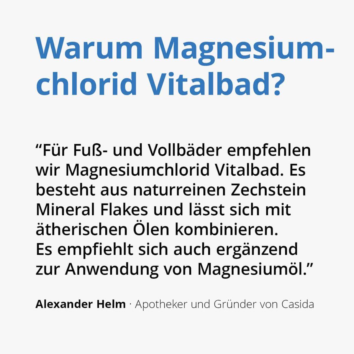 Casida Magnesiumchlorid Vitalbad Zechstein 1,0 kg 11615851 PZN Apotheke Muskelkater Sole Vollbad Fußbad Salz2