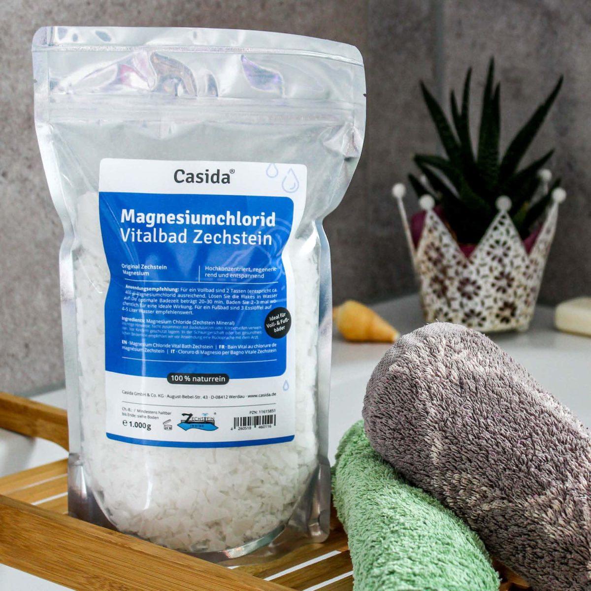 Casida Magnesiumchlorid Vitalbad Zechstein 1,0 kg 11615851 PZN Apotheke Muskelkater Sole Vollbad Fußbad Salz8
