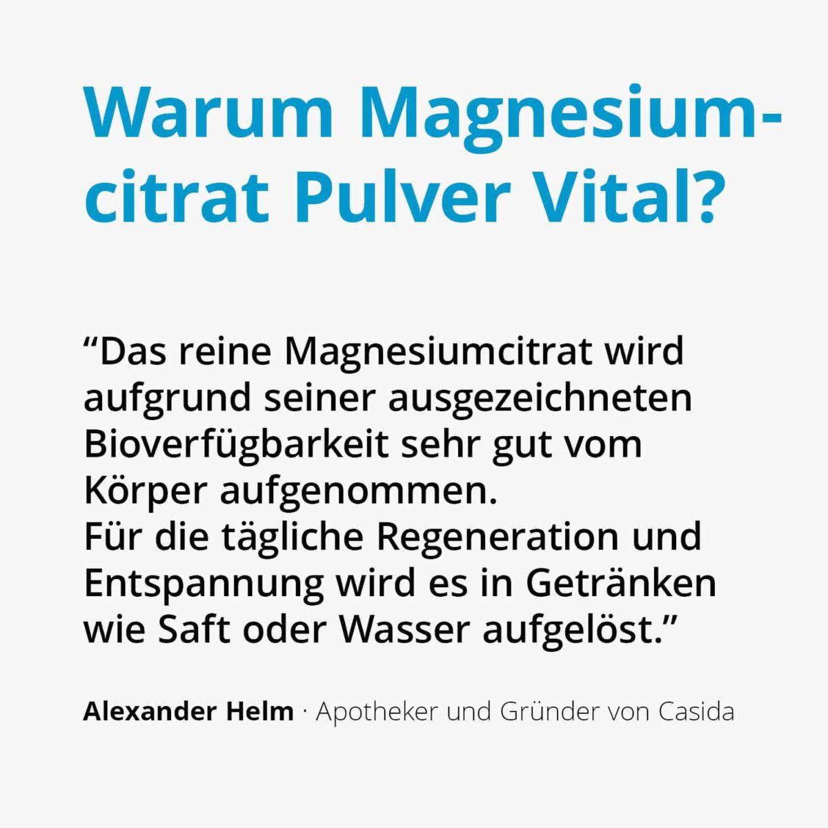 Casida Magnesiumcitrat Pulver Vital 200 g 11316290 PZN Apotheke Regeneration trinken Muskelentspannung2