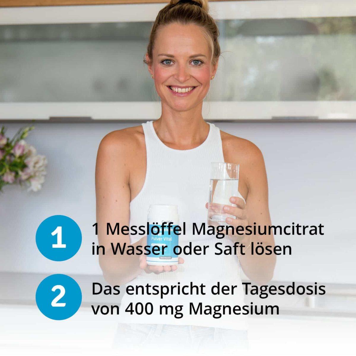 Casida Magnesiumcitrat Pulver Vital 200 g 11316290 PZN Apotheke Regeneration trinken Muskelentspannung6