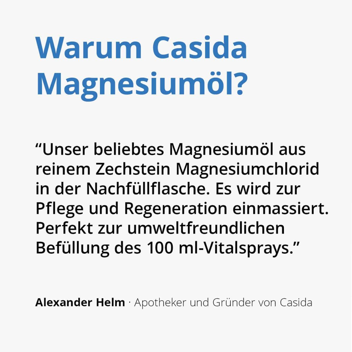 Casida Magnesiumöl Vital Zechstein 1000 ml 11730233 PZN Apotheke Nachfüllflasche Sport2