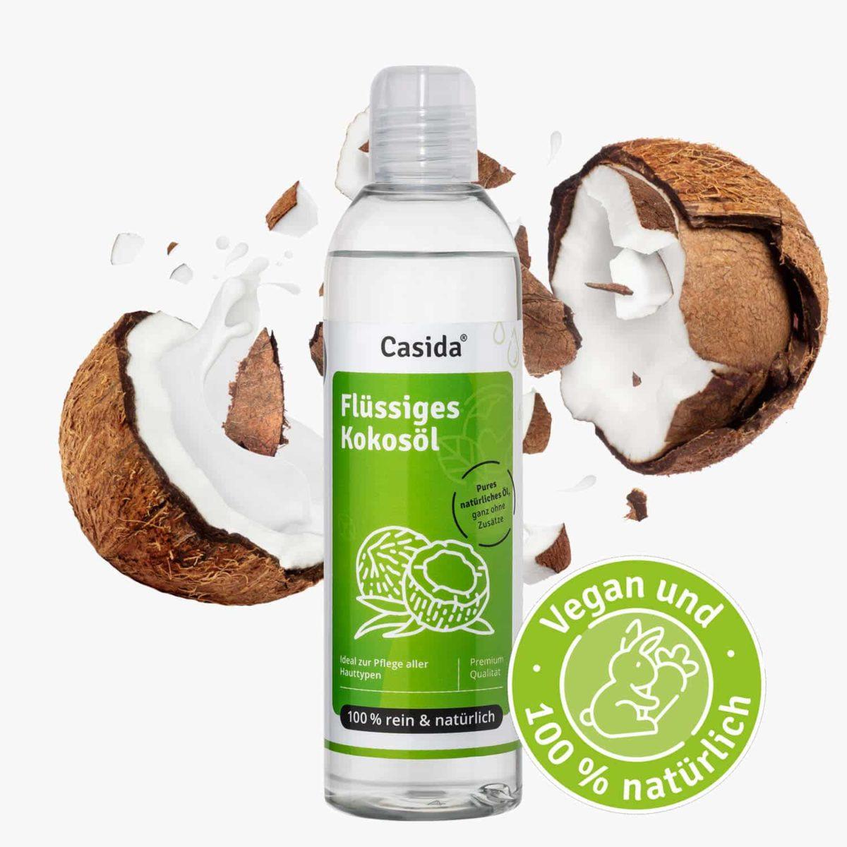 Casida Kokosöl flüssig pur & natürlich – 250 ml 12870338 PZN Apotheke Trägeröl Ätherische Öle mischen fraktioniert3
