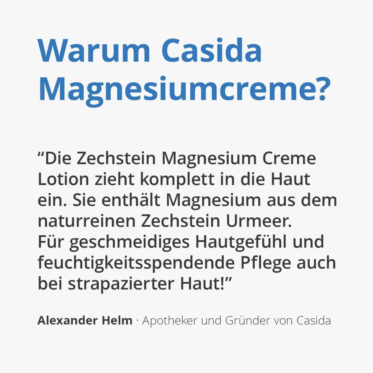 Casida Magnesium Cream Lotion 200 ml 12902245 PZN Apotheke Regenerierende Hautpflege Dermatest2