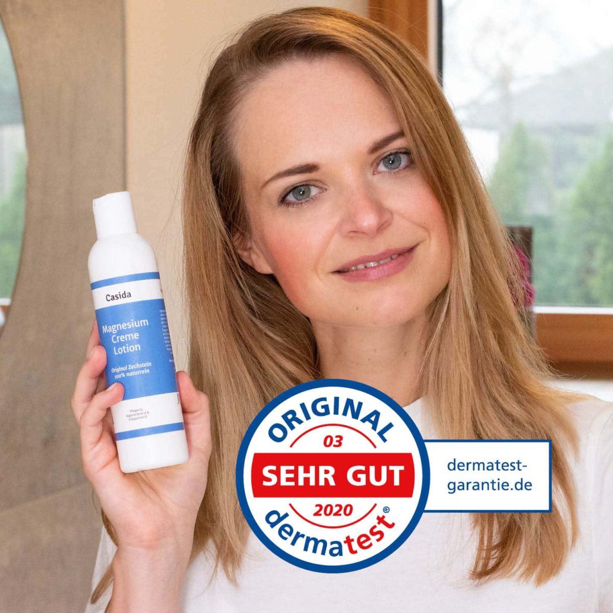 Casida Magnesium Cream Lotion 200 ml 12902245 PZN Apotheke Regenerierende Hautpflege Dermatest8