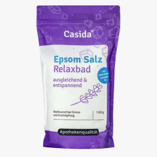 Casida Epsom Salz Relaxbad mit Lavendel 1 kg 12903730 PZN Apotheke Entspannung Bittersalz