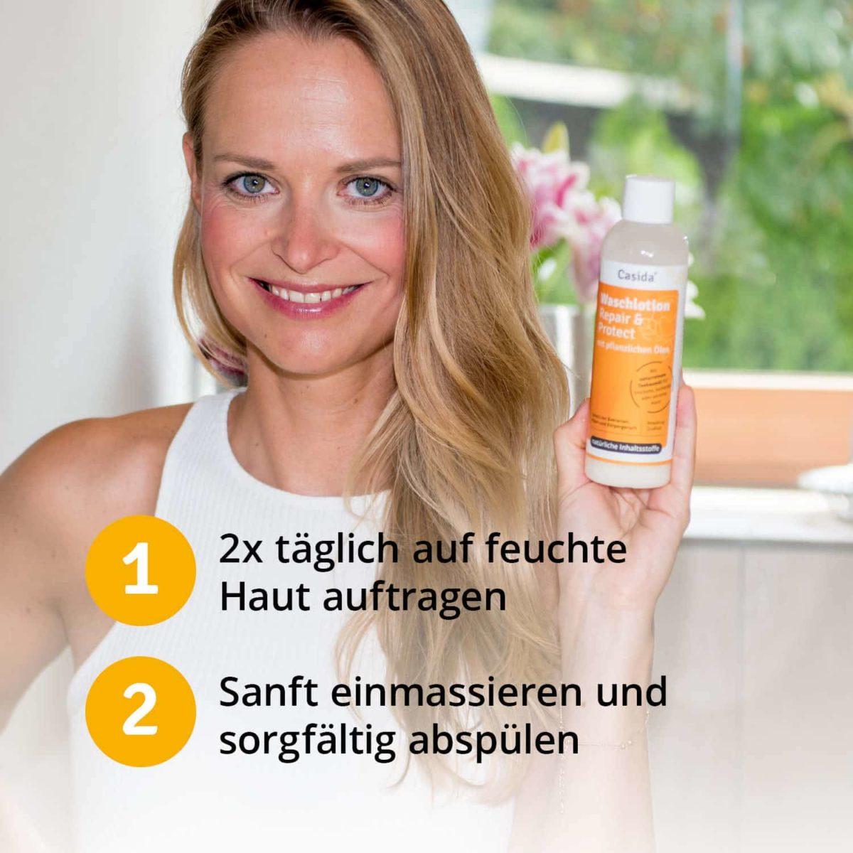 Casida Washing Lotion Repair & Protect 200 ml 13168379 PZN Apotheke Nagelpilz Fußpilz6