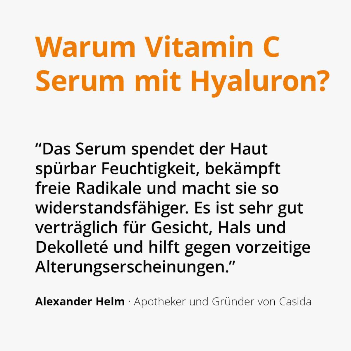 Casida Vitamin C Serum + Hyaluron – 30 ml 14044053 PZN Apotheke Antioxidantien Anti-Aging a (2)