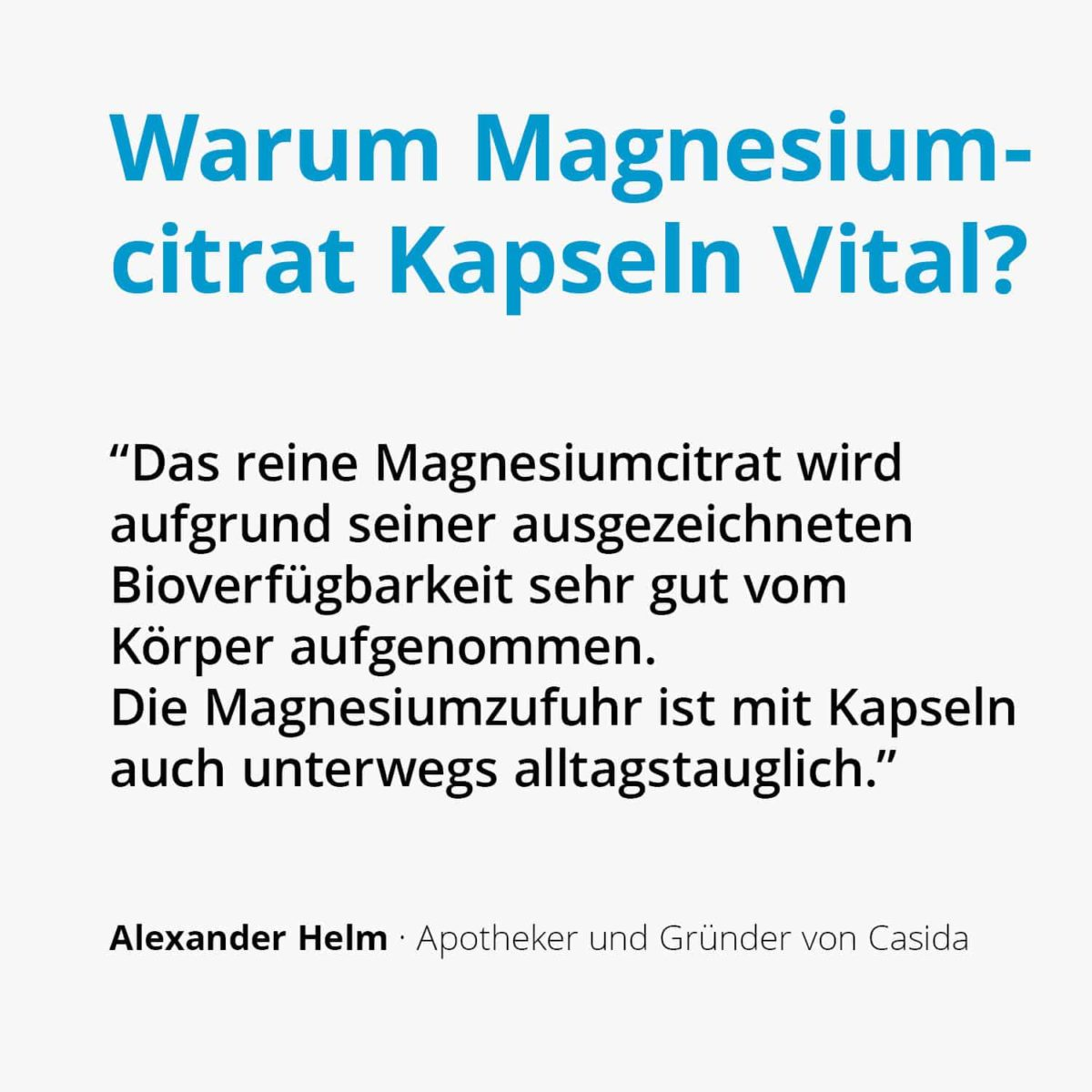 Casida Magnesiumcitrat Kapseln Vital – 120 Stk. 14362474 PZN Apotheke Muskelkater Muskelkrampf Sport2