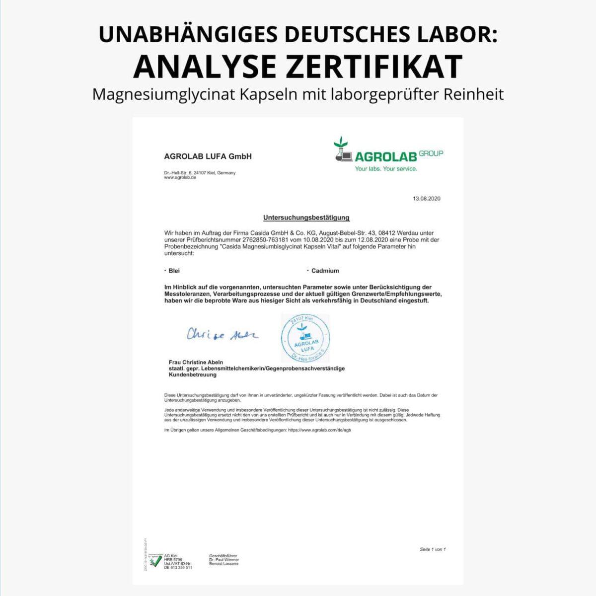 Magnesium Glycinate Capsules Vital – 120 Stk. 14362480 PZN Apotheke Bioverfügbarkeit organisches Magnesium8