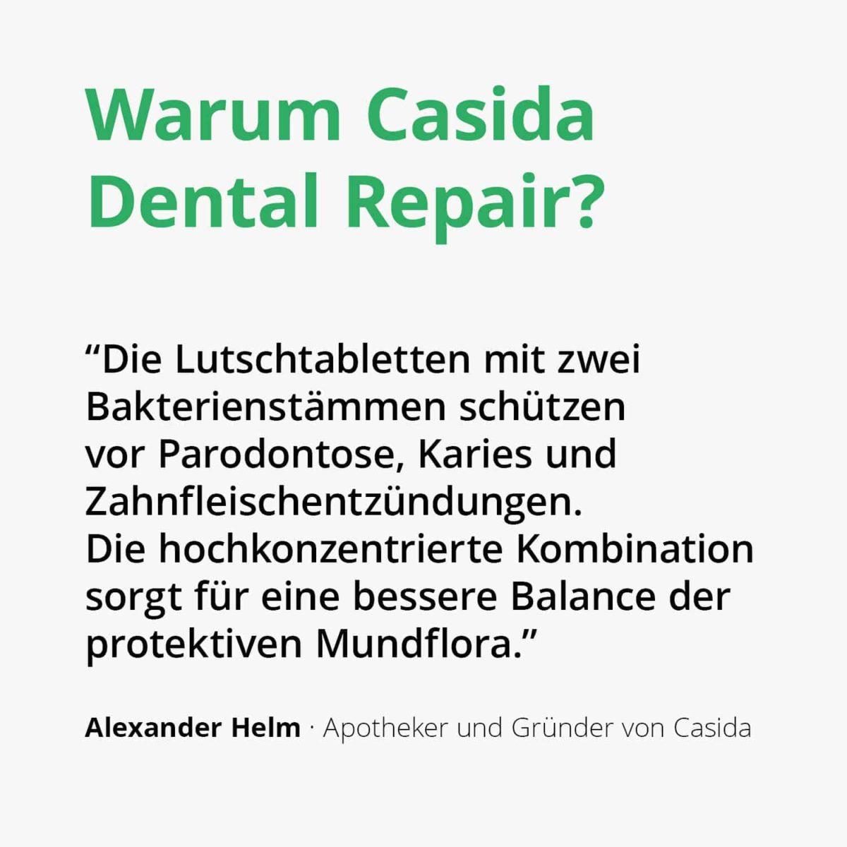 Casida Dental Repair Lutschtabletten – 60 Stk. 14401553 PZN Apotheke Karies Zahnpflege Parodontose2