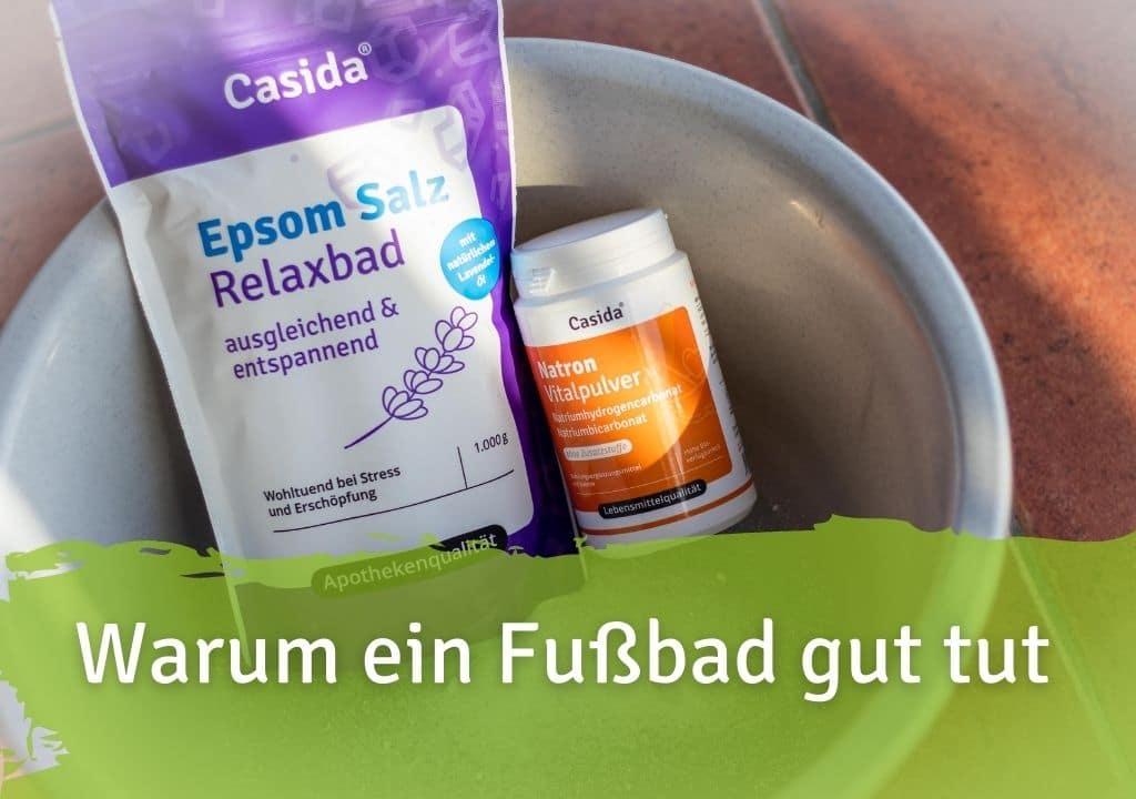 Gründe für ein Fußbad Casida Epsom Salz Relaxbad mit Lavendel 1 kg 12903730 PZN Apotheke Entspannung Bittersalz