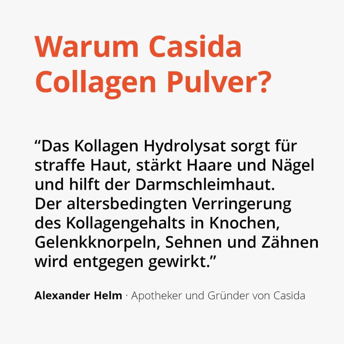Casida Collagen Pulver Kollagen Hydrolysat Peptide Rind – 480 g 15266086 PZN Apotheke Peptide Typ I II III Eiweiß Shake trinken Gelenke Anti-Aging2