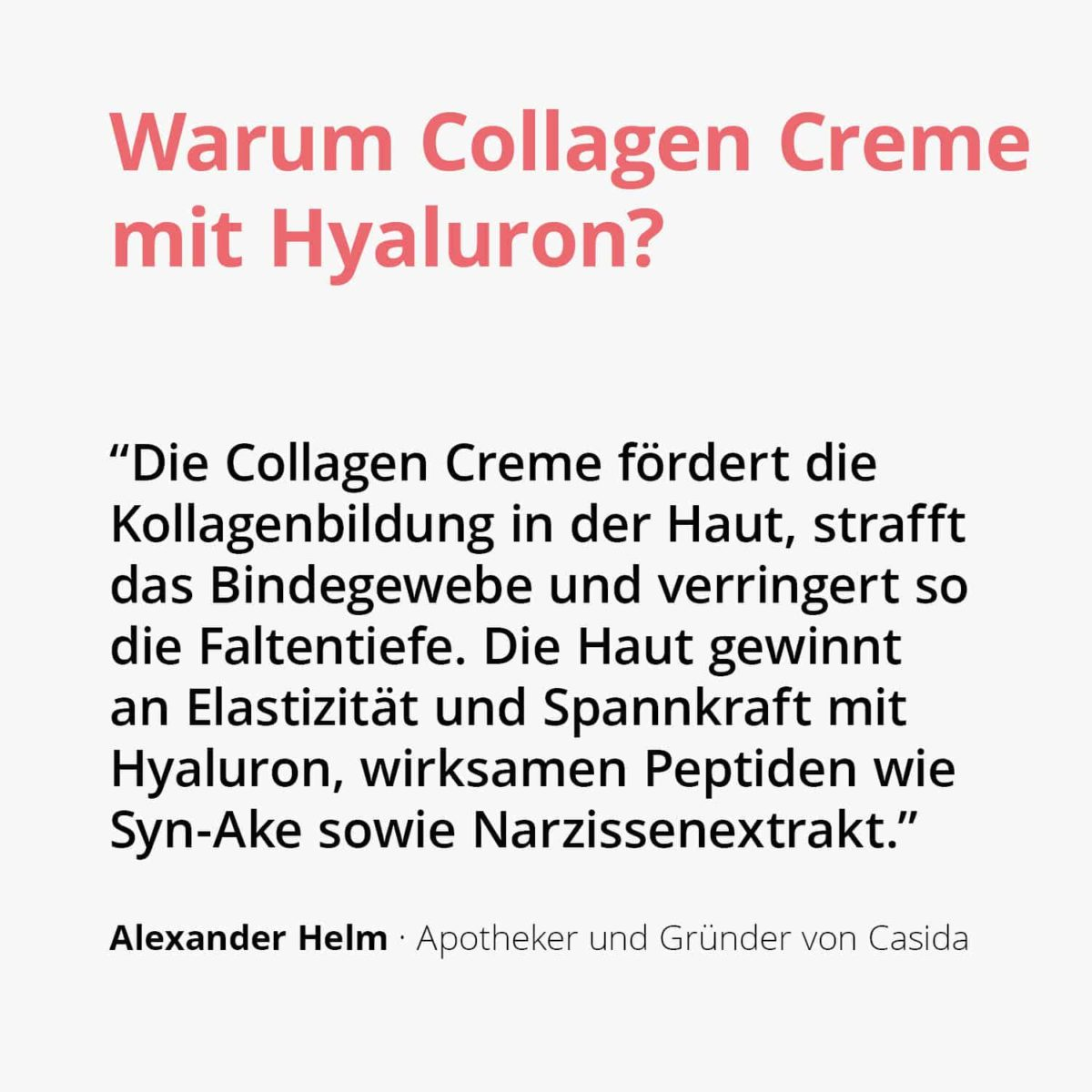 Casida Collagen Creme Peptid Filler + Hyaluron – 50 ml 15408250 PZN Apotheke Gesichtspflege2