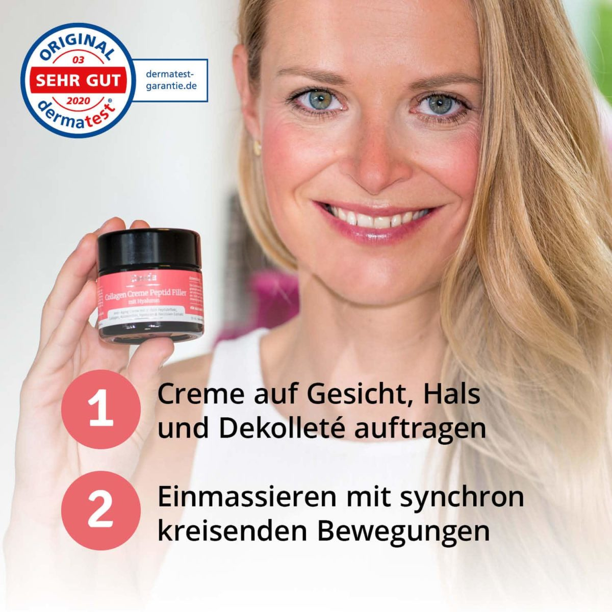 Casida Collagen Creme Peptid Filler + Hyaluron – 50 ml 15408250 PZN Apotheke Gesichtspflege6