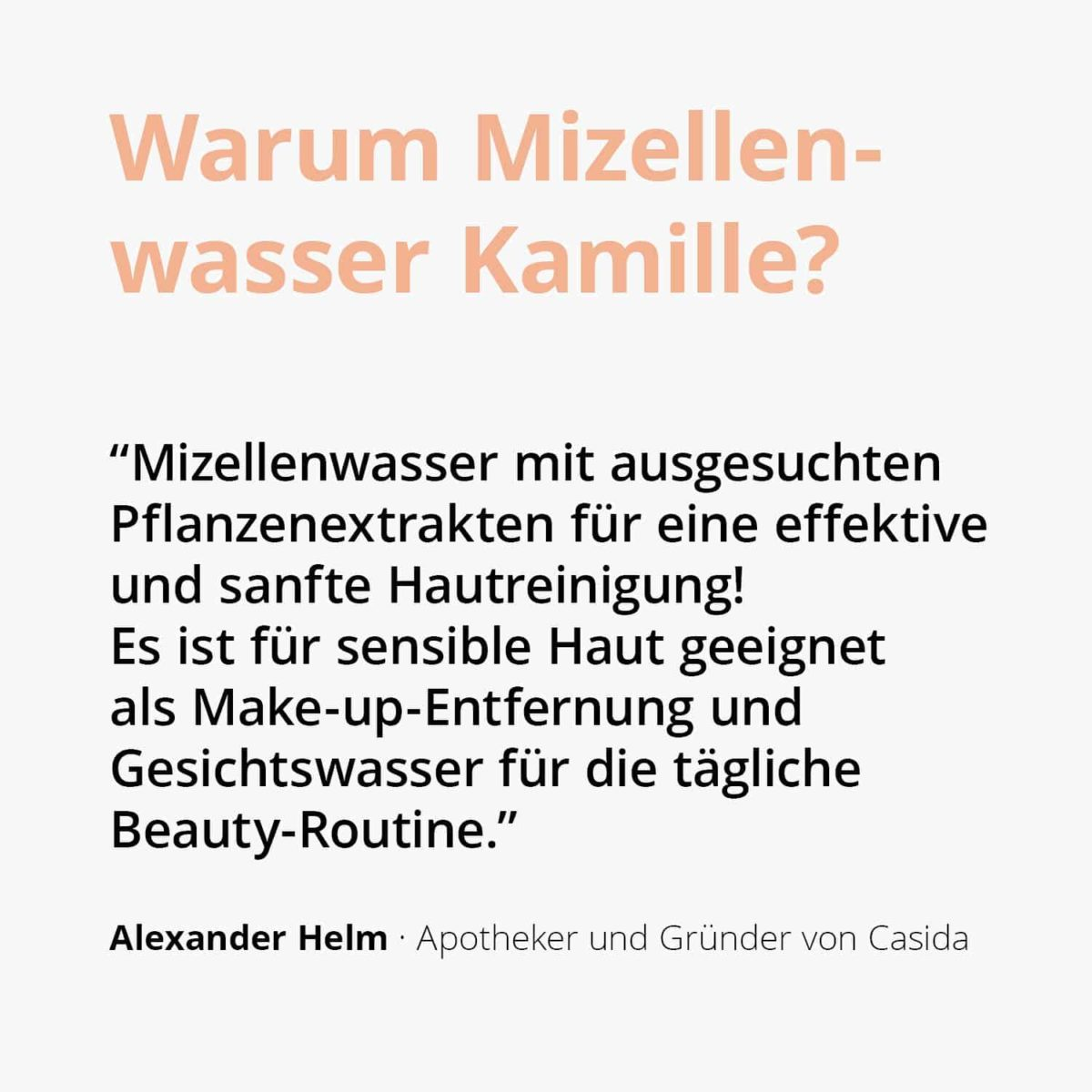 Casida Mizellenwasser Kamille Natural – 150 ml 15408238 PZN Apotheke Abschminken Make-up pflanzlich2