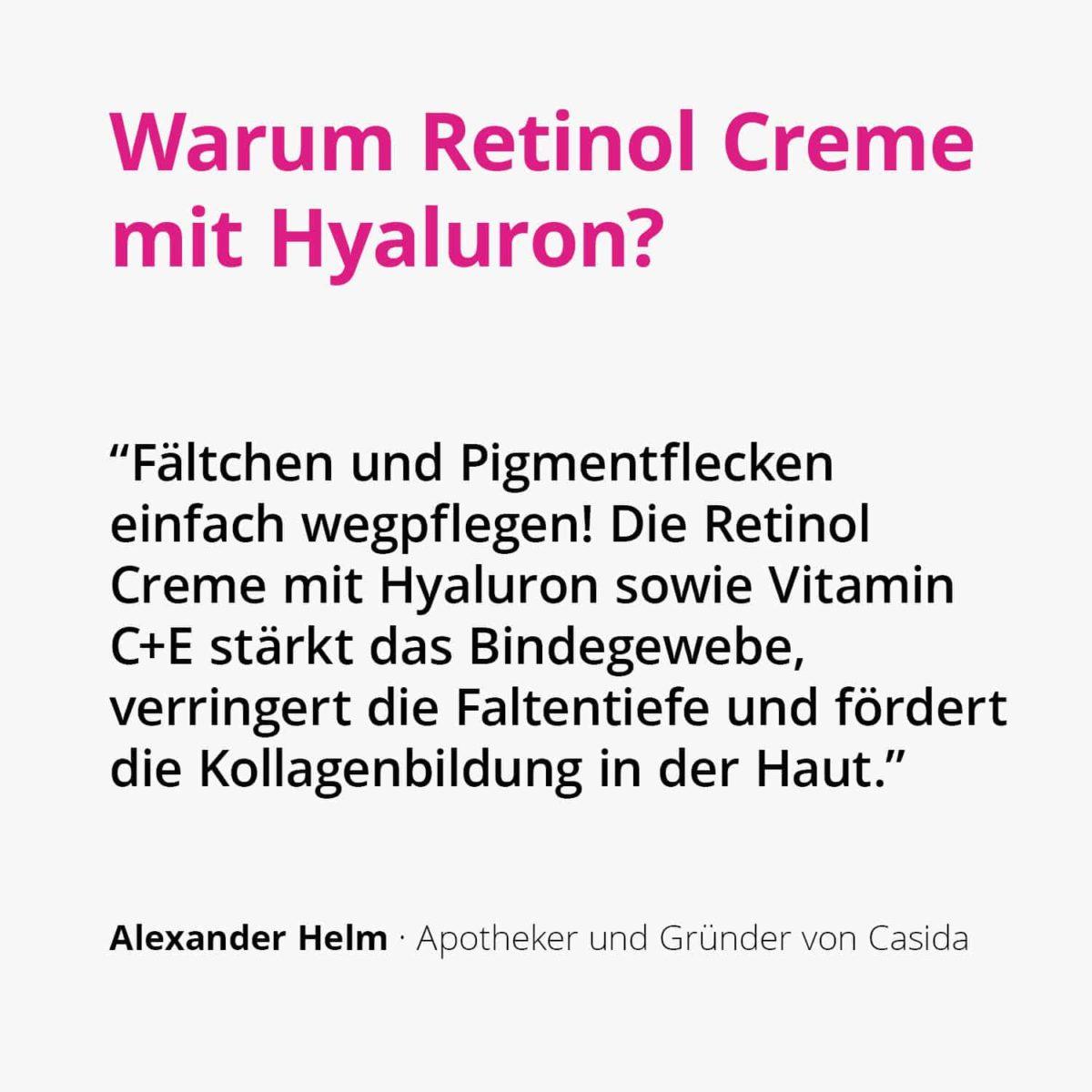 Casida Retinol Creme mit Hyaluron – 50 ml 15408244 PZN Apotheke Anti-Aging2