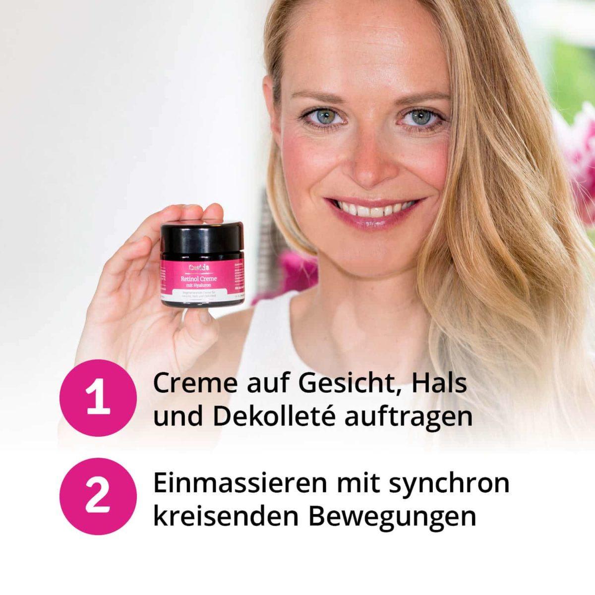 Casida Retinol Creme mit Hyaluron – 50 ml 15408244 PZN Apotheke Anti-Aging6