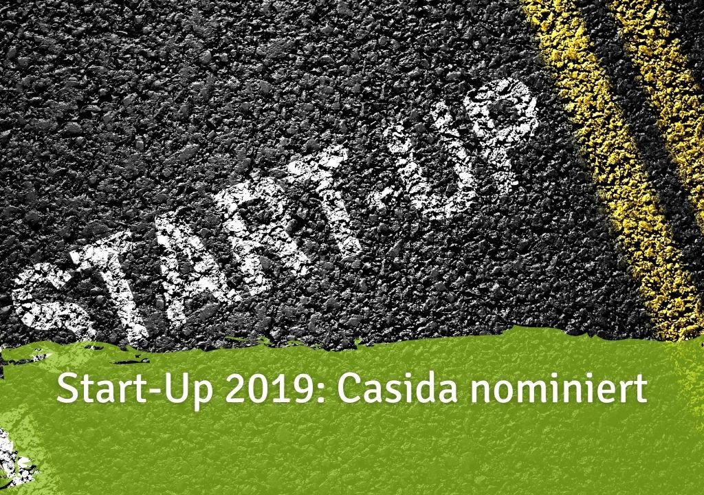 Start-Up 2019 Casida nominiert