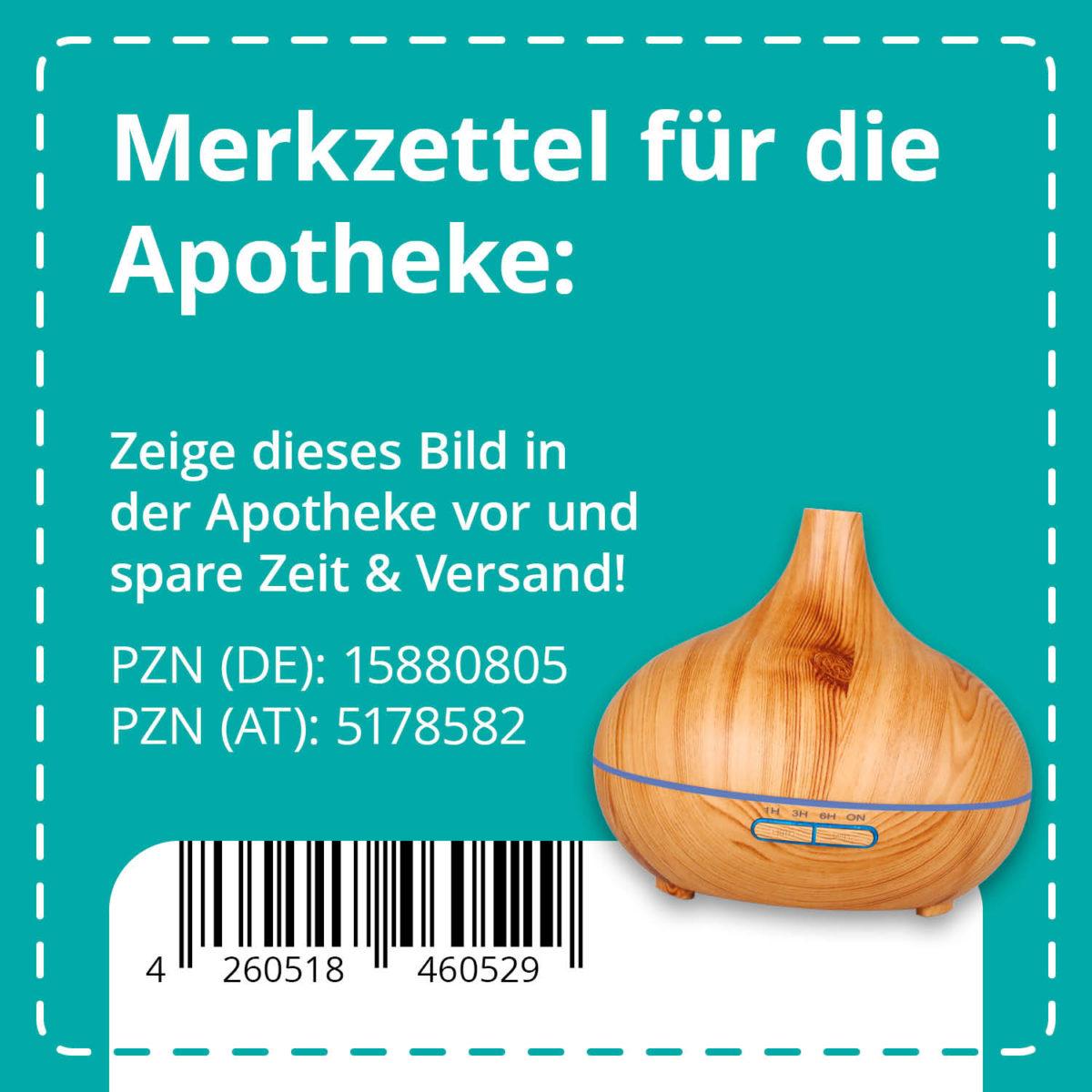 Casida Aroma Diffuser Holzdesign mit LED 300 ml PZN DE 15880805 PZN AT 5178582 UVP 42,95 € EAN 4260518460529 Aromatherapie