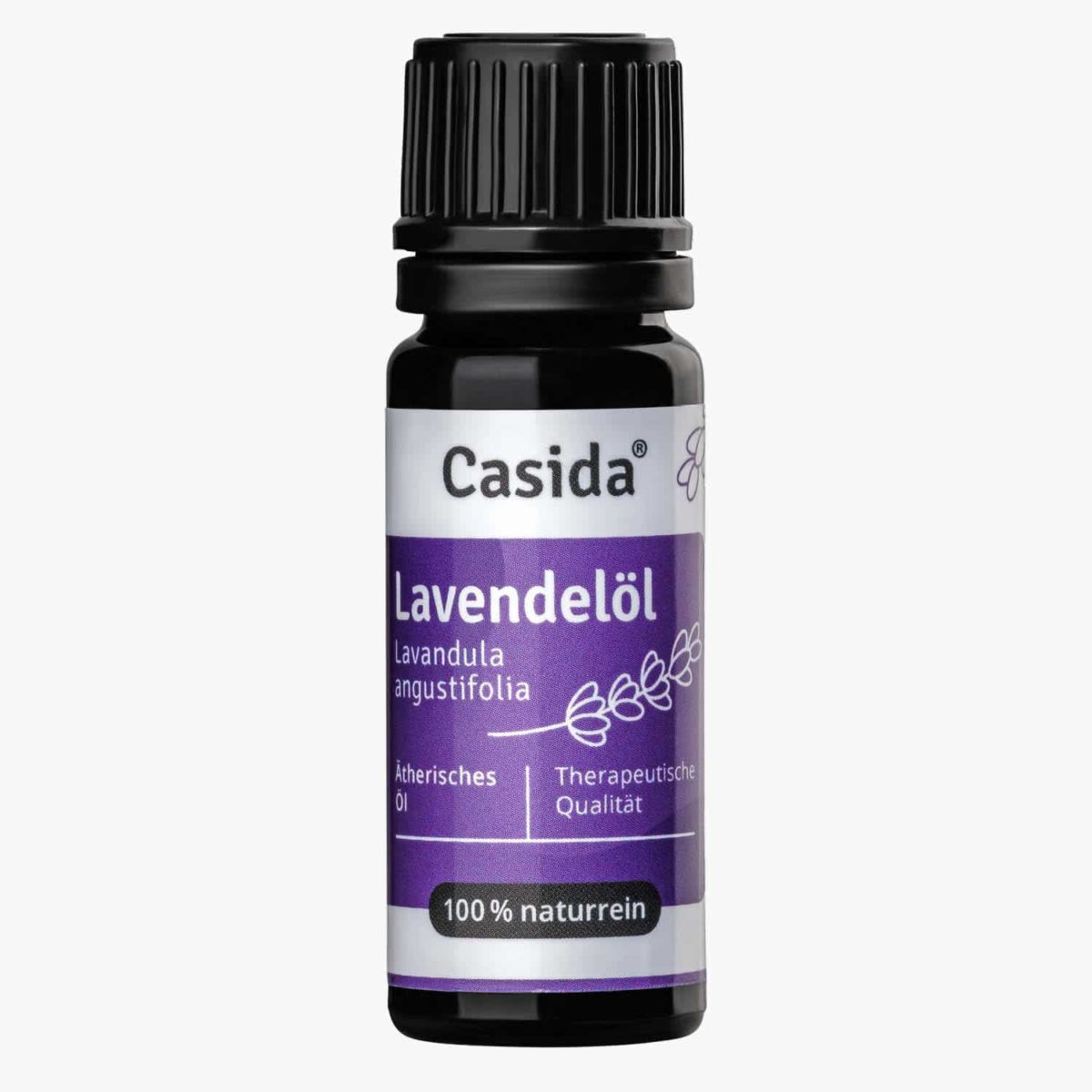 Casida Lavendelöl naturrein 10 ml PZN DE 15880722 PZN AT 5178553 PZN CH 7779584 UVP 9,95 € EAN 4260518460437 Apotheke ätherisches Öl