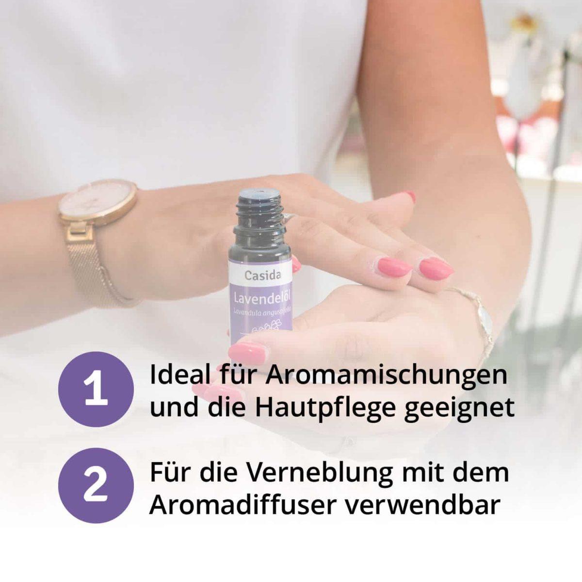 Casida Lavendelöl naturrein – 10 ml 15880722 PZN Apotheke Lavandula angustifolia Diffuser pur anwenden Schlaf Beruhigung6