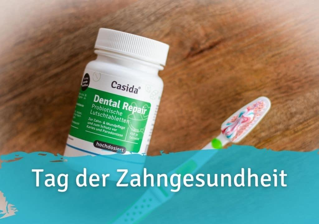 Tag der Zahngesundheit Casida Dental Repair Lutschtabletten – 60 Stk. 14401553 PZN Apotheke Karies Zahnpflege Parodontose