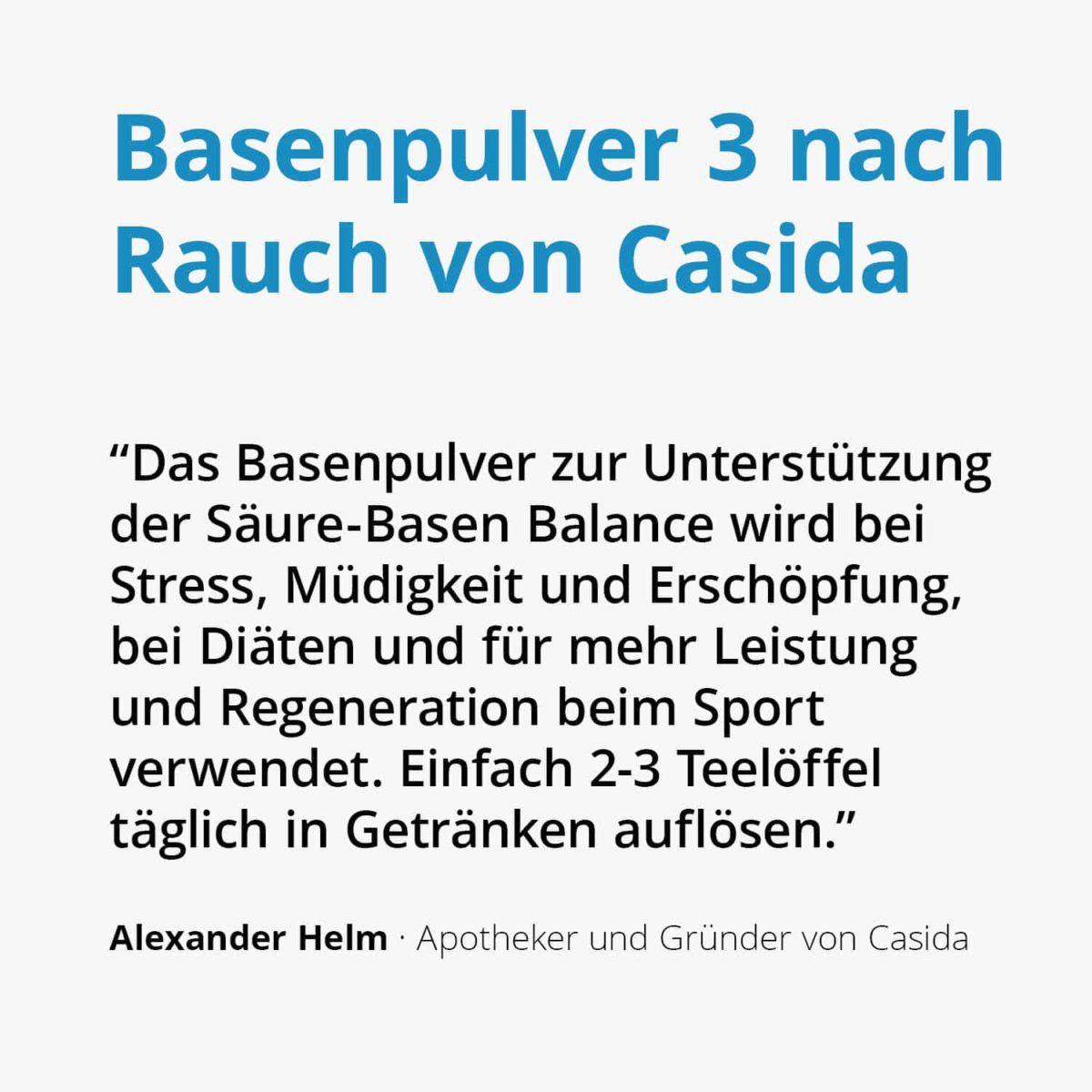 Casida Basenpulver 3 nach Rauch – 200 g 11058942 PZN Apotheke basisch Säure Basen Kur2
