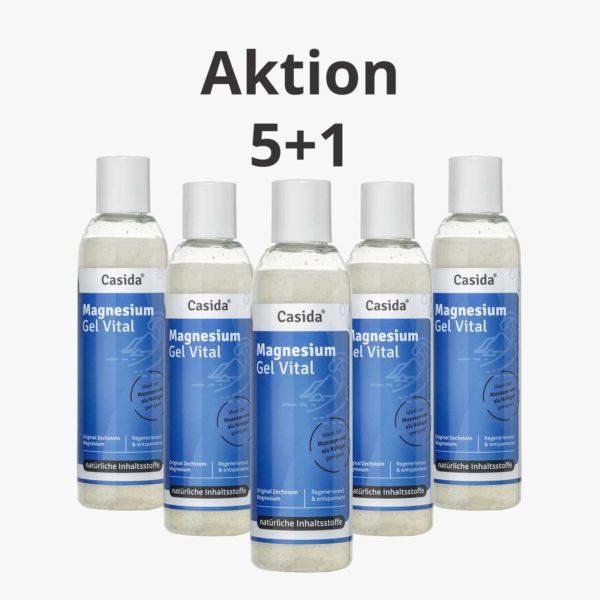 Casida Magnesium Gel Vital Zechstein 5+1 Aktion 200 ml 12472744 PZN Apotheke Schröpfen Magnesiumgel Massage
