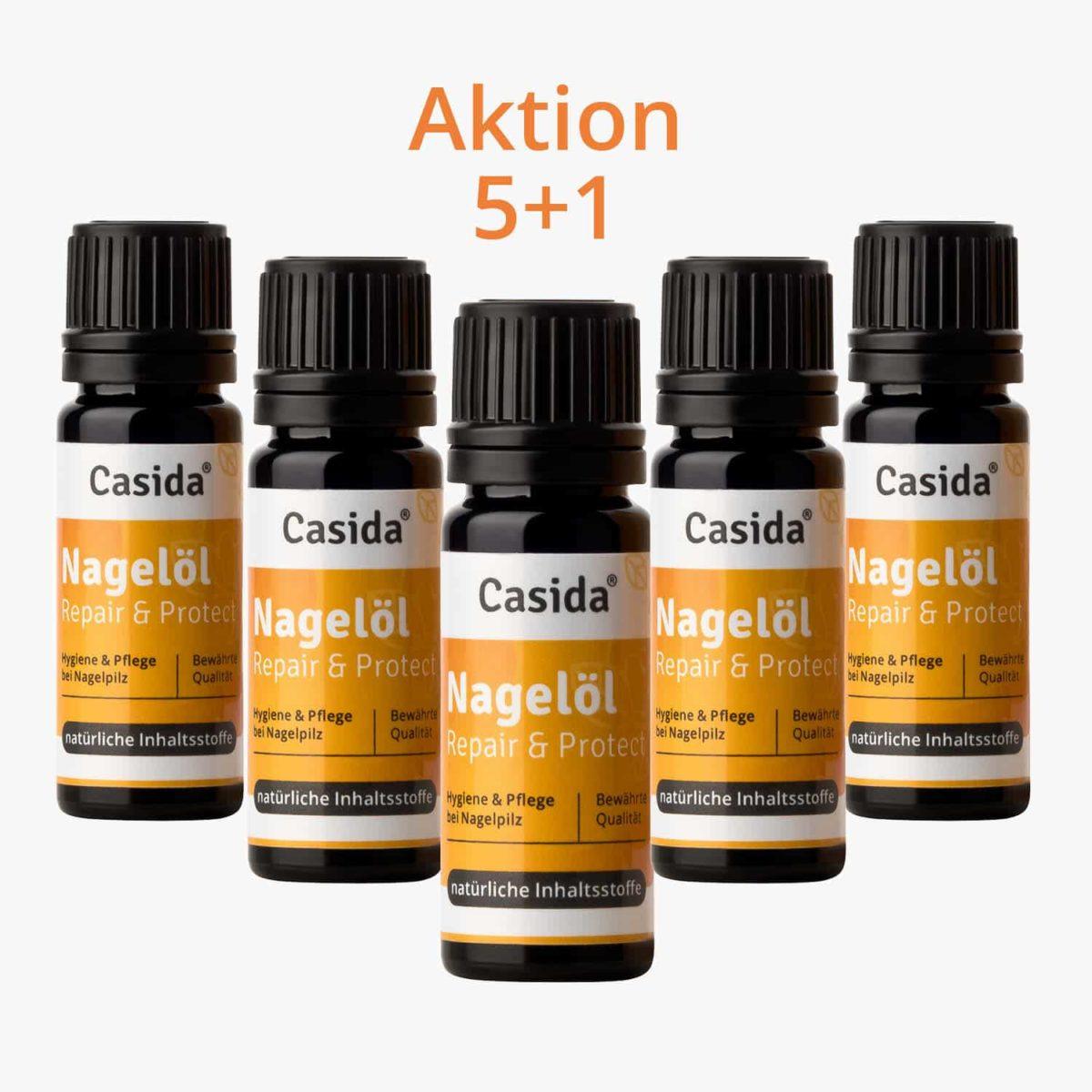 Casida Set 5 +1 Nagelöl Repair & Protect 10 ml PZN 10022445 Apotheke Nagelpilz Füße Hände (1)