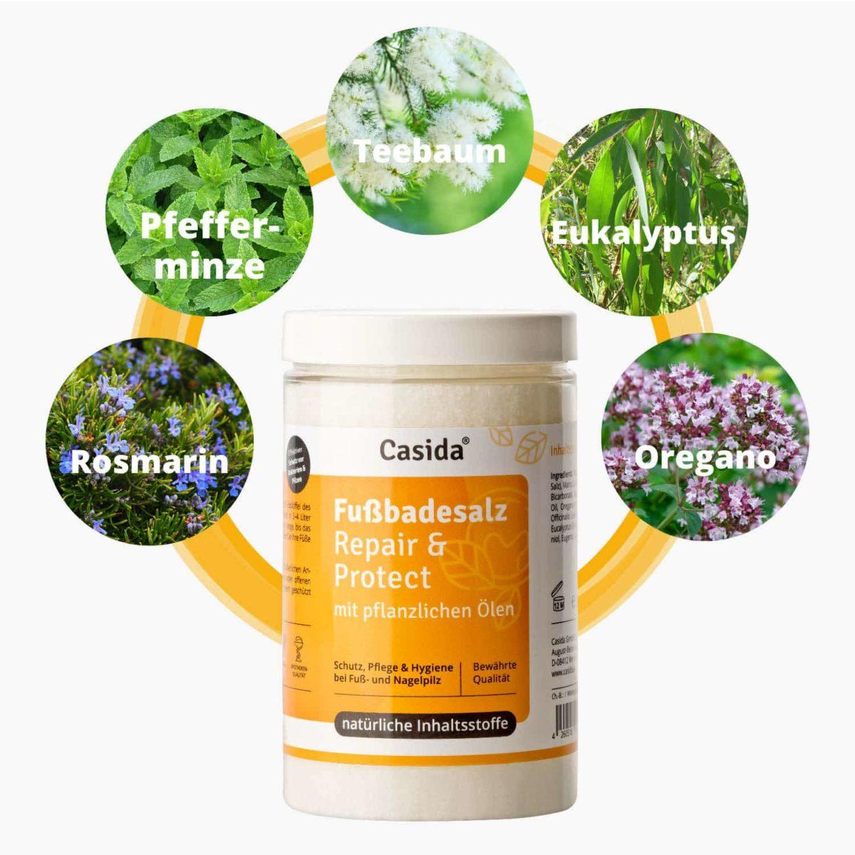 Casida Product Combo Nail Oil and Foot Bath Salt Bundle PZN 10022445 12907018 Nagelpilz bekämpfen pflanzlich Fußpilz2