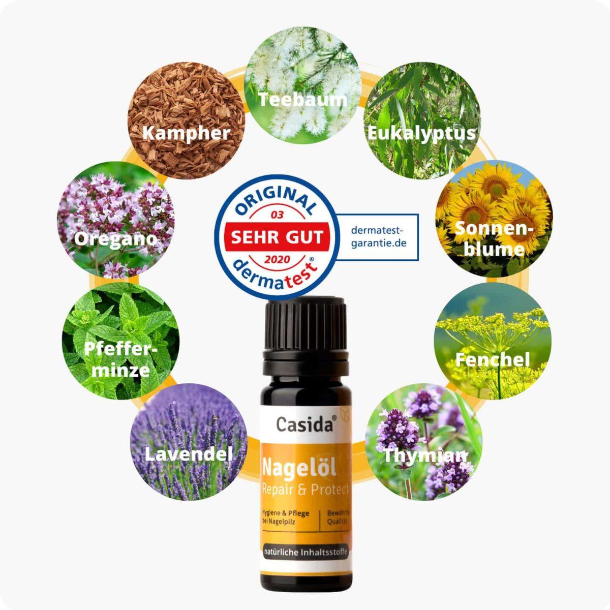 Casida Product Combo Nail Oil and Foot Bath Salt Bundle PZN 10022445 12907018 Nagelpilz bekämpfen pflanzlich Fußpilz3