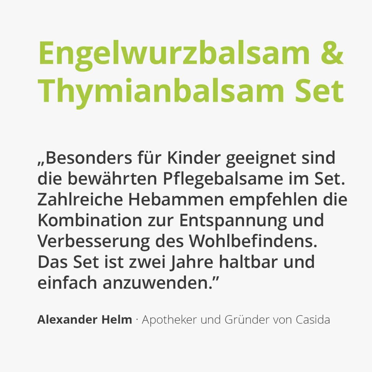 Casida Set Engelwurzbalsam Thymianbalsam mit Myrte Kinder 10209008 10086729 PZN Apotheke Erkältung Baby pflanzlich behandeln2