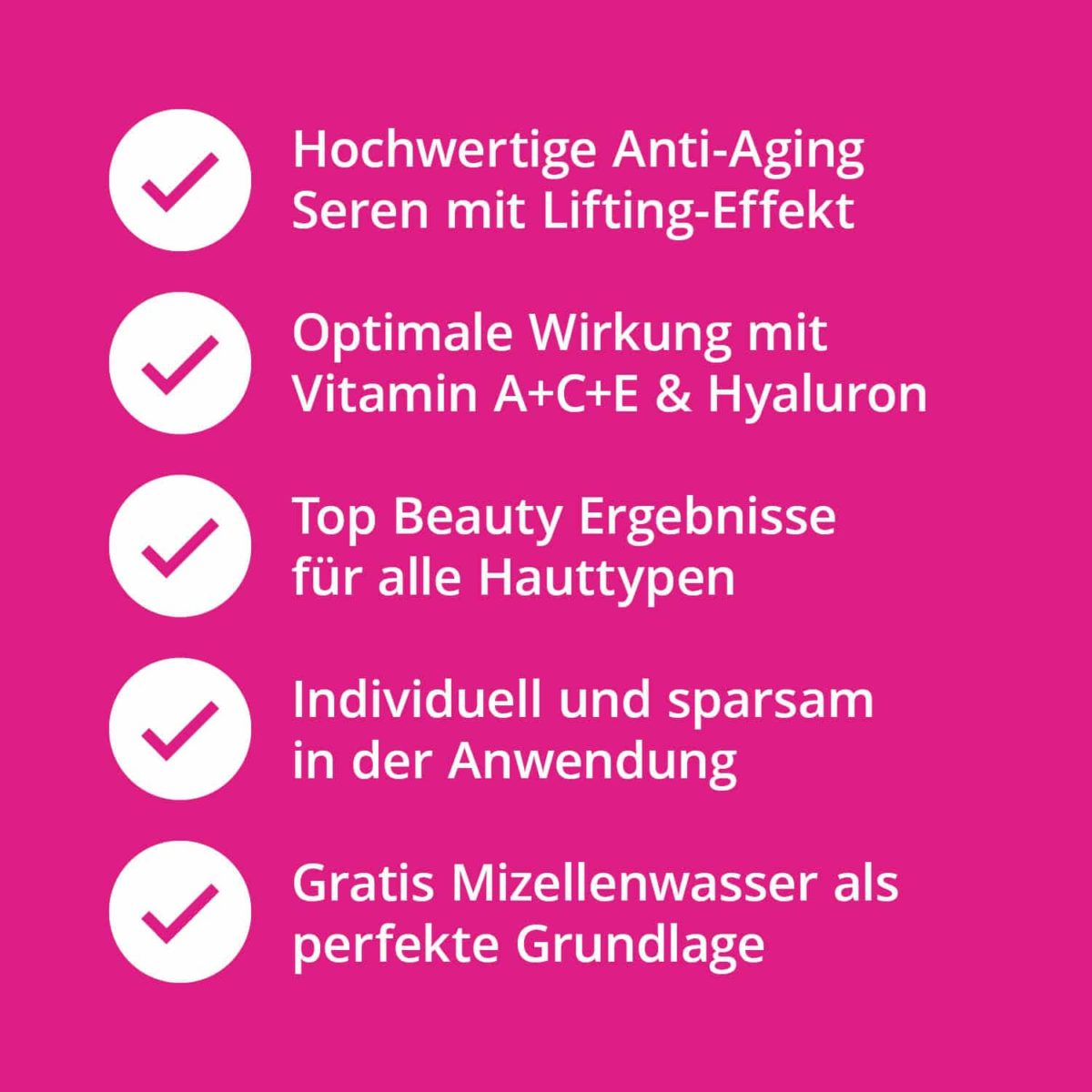 Serum Trilogie – Beauty Set mit Retinolserum Hyaluronserum Vitamin C Serum und Gratis Mizellenwasser Anti-Aging7