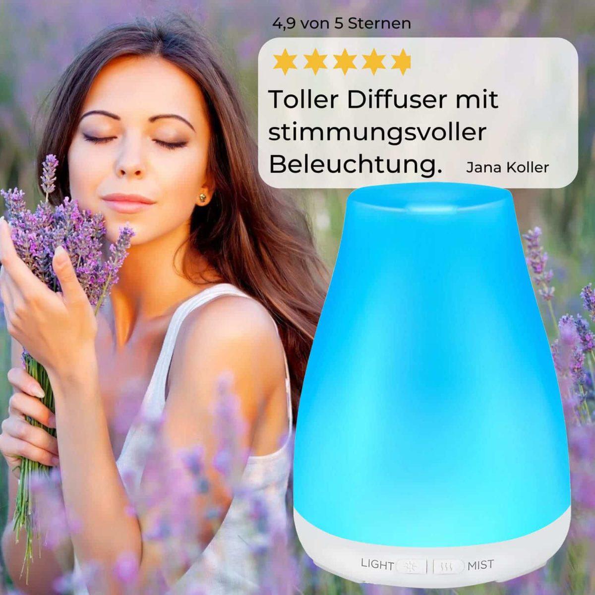 Casida Aroma Diffuser kompakt weiß Apotheke PZN 16351150 Aromatherapie Ätherische Öle vernebeln Lufterfrischer mobil8