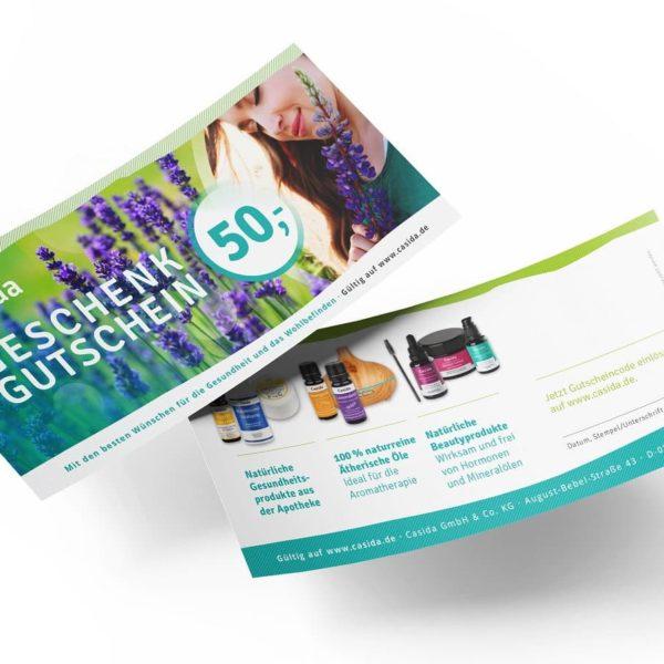 Casida Gutschein 50 € Code Geschenk Shop 2