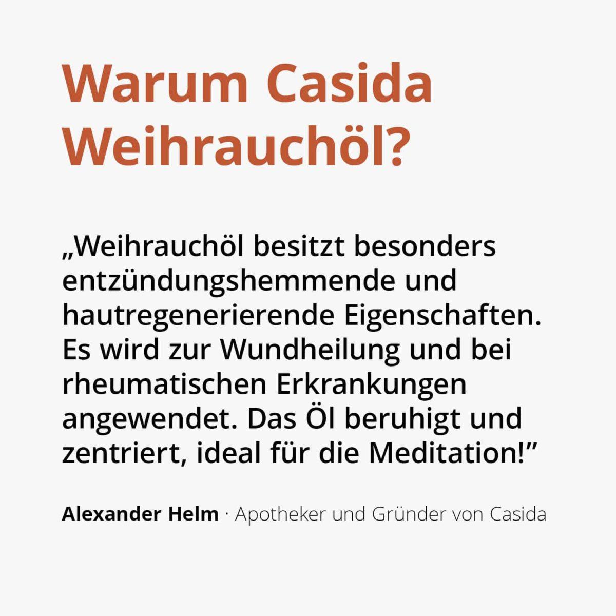 Casida Weihrauchöl Boswellia serrata naturrein – 10 ml 15880780 PZN Apotheke ätherische Öle Diffuser Meditation Wundheilung2