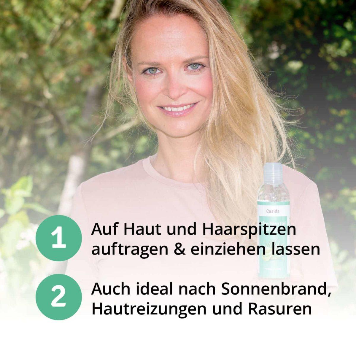 Casida Aloe Vera Gel Haut & Haare 16573212 PZN Apotheke Hautpflege After Sun (6)