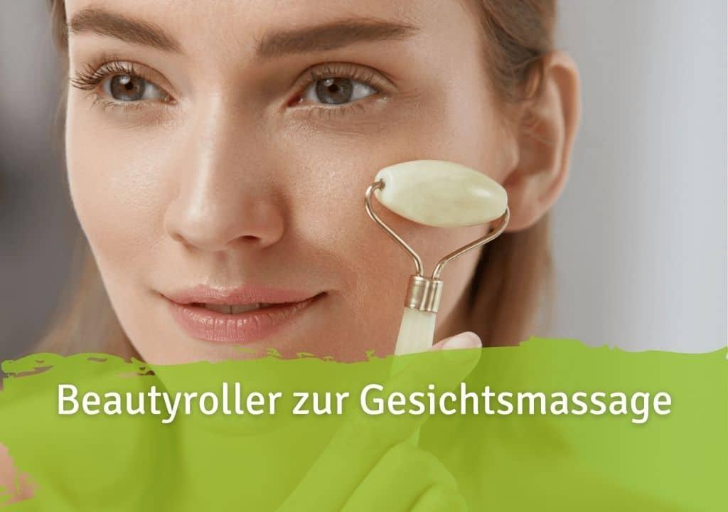 Beautyroller zur Gesichtsmassage Jade Roller Gesichtsmassage PZN 16206123 Apotheke Anti-Aging Detox Augenringe Schwellungen