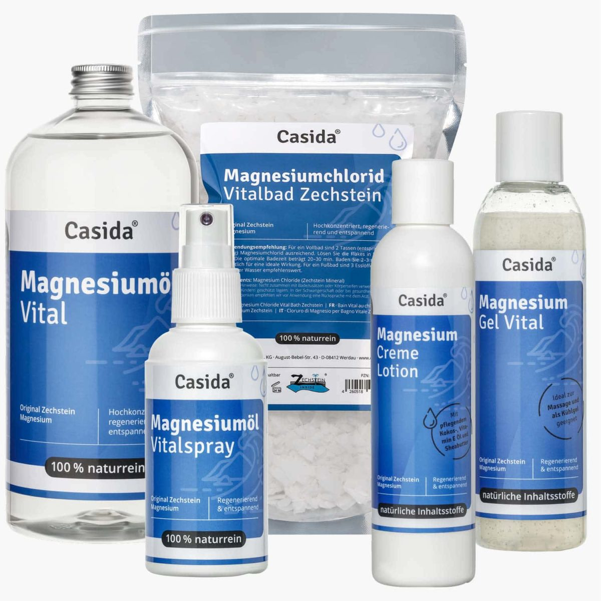 Casida Set PZN 10086741 12902245 11730233 11615851 12472744 Apotheke Magnesium Regeneration Hautpflege Muskelkater