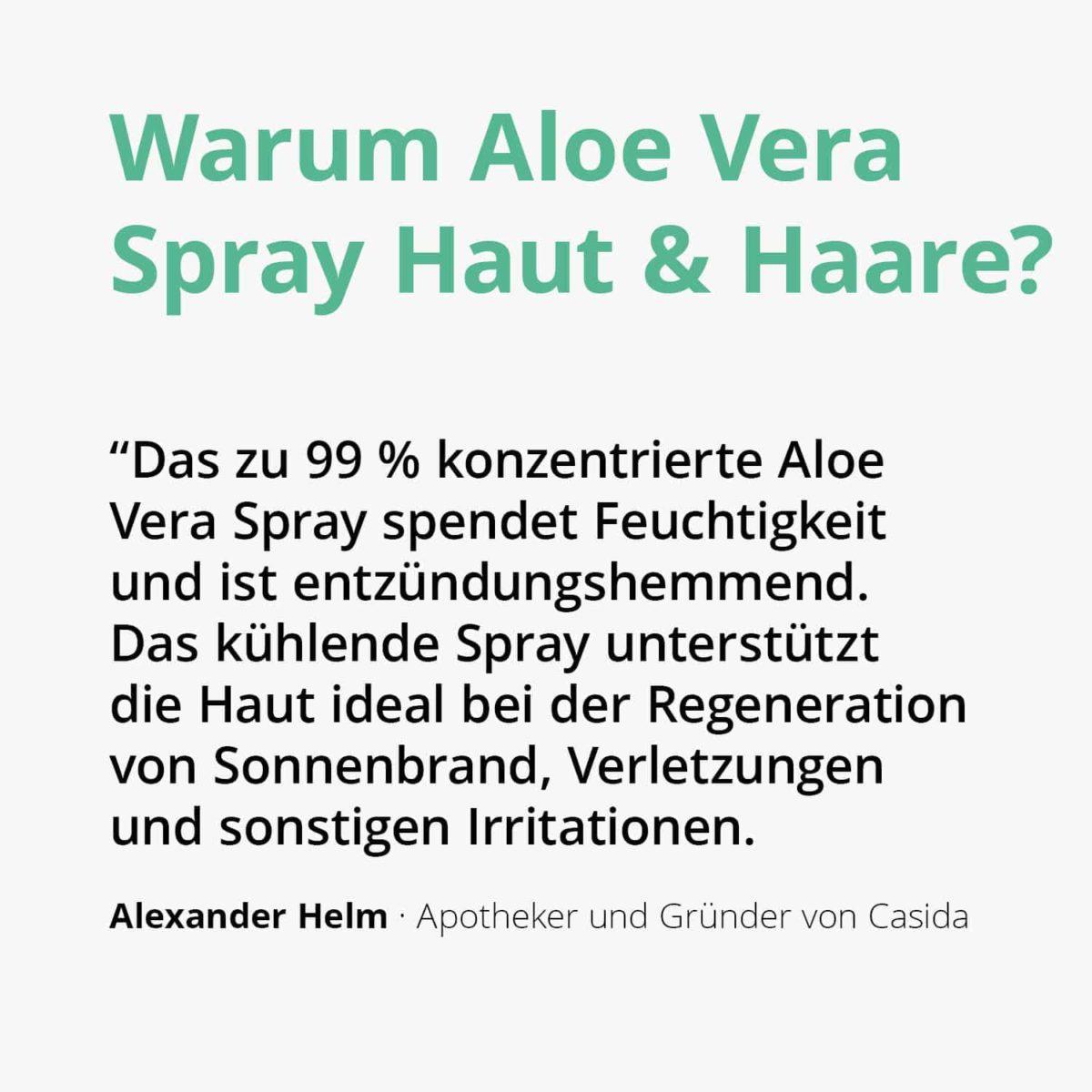 Casida Aloe Vera Spray Haut & Haare 16813047 PZN Apotheke Hautpflege Feuchtigkeitsspendend Sonnenbrand Rasur Hautreizungen2