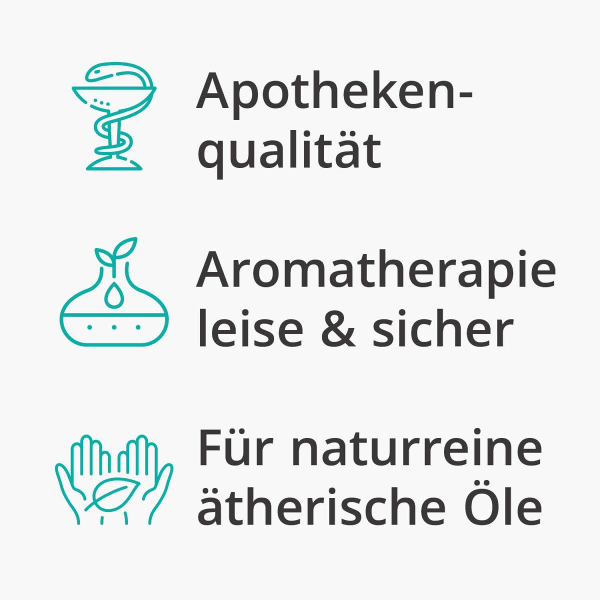 Casida Aroma Diffuser kompakt weiß Apotheke PZN 16351150 Aromatherapie Ätherische Öle vernebeln Lufterfrischer mobil