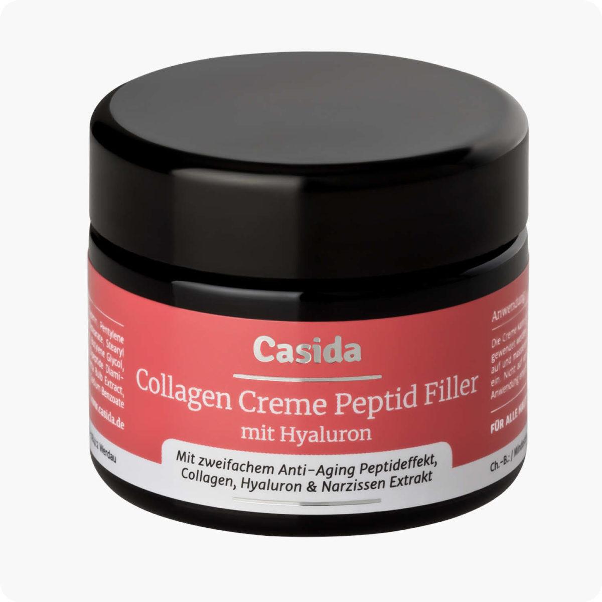 Casida Collagen Cream Peptid Filler + Hyaluron – 50 ml 15408250 PZN Apotheke Anti-Aging Gesichtspflege